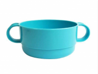 Handled plastic bowl. red or blue (Code 4222)